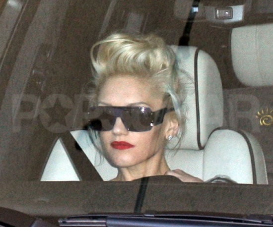 Slide Photo of Gwen Stefani Leaving Gavin's Birthday Lunch in LA
