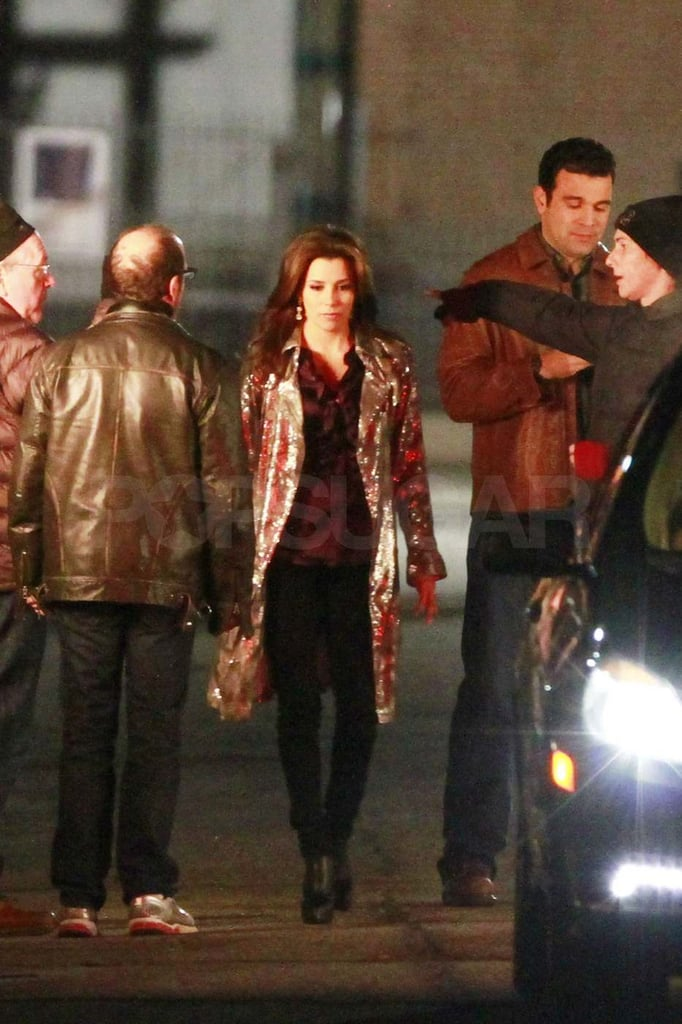 Pictures of Eva Longoria Filming Desperate Housewives in LA