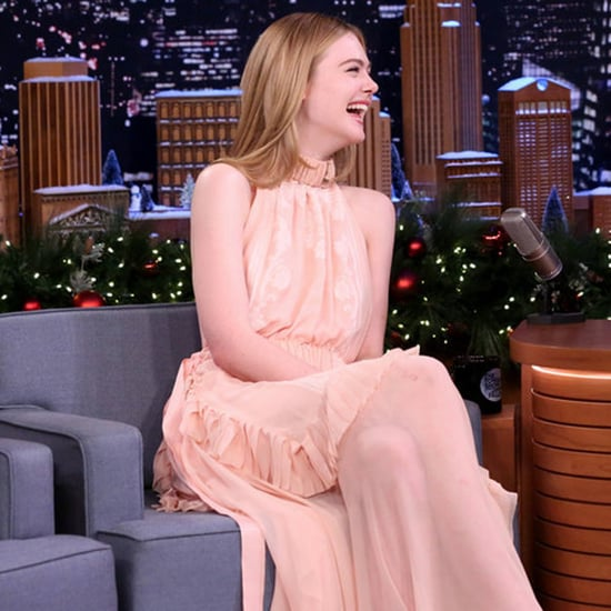 Elle Fanning Talking About Channing Tatum, The Tonight Show