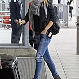 Gwyneth Paltrow arriving at Heathrow Airport.
