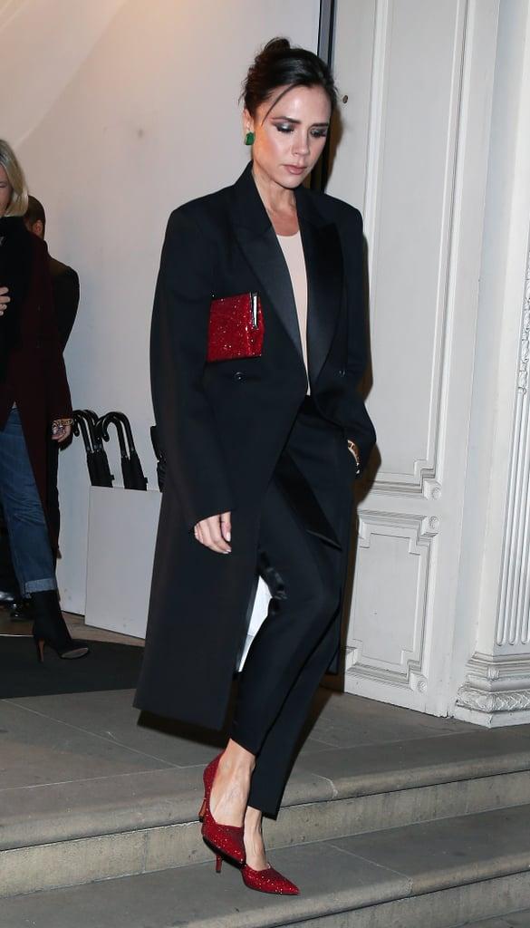 Victoria Beckham Red Glitter Pumps