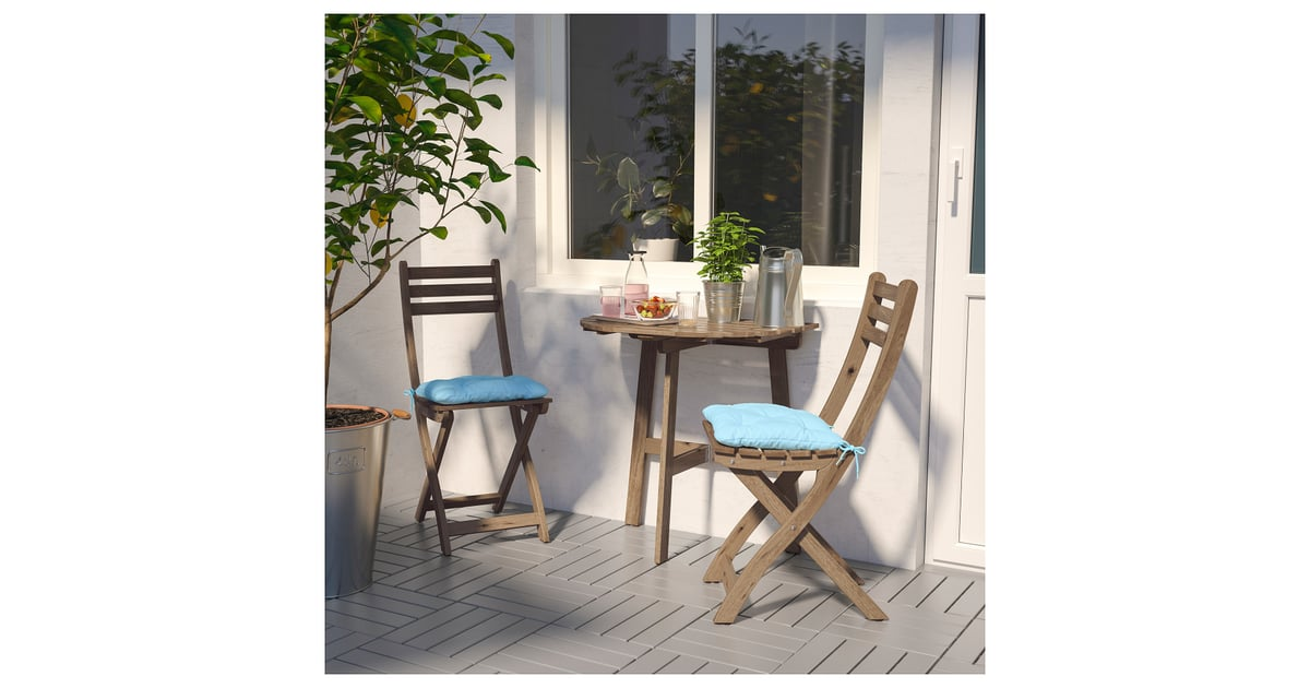 Askholmen Wall Table and Two Folding Chairs | Best Ikea ...