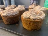 Vegan Carrot Cake Cupcakes and Cashew Frosting | Fall Recipe