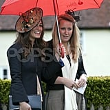 Pippa Middleton arrived at Hannah Gillingham and Robert Carter's wedding in England.