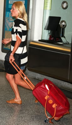 Kate Bosworth Wears Stripes at Miami Airport