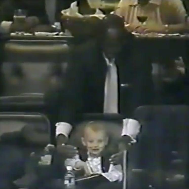 Michael Jordan and Baby Katie Ledecky