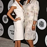 Nicole went for a mature suited-up look while attending a Fox event with her mom, Brenda, in June 2004.