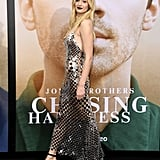 Sophie Turner Silver Chainmail Dress With Joe Jonas