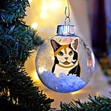 Calico Kitty Cat Christmas Ornament
