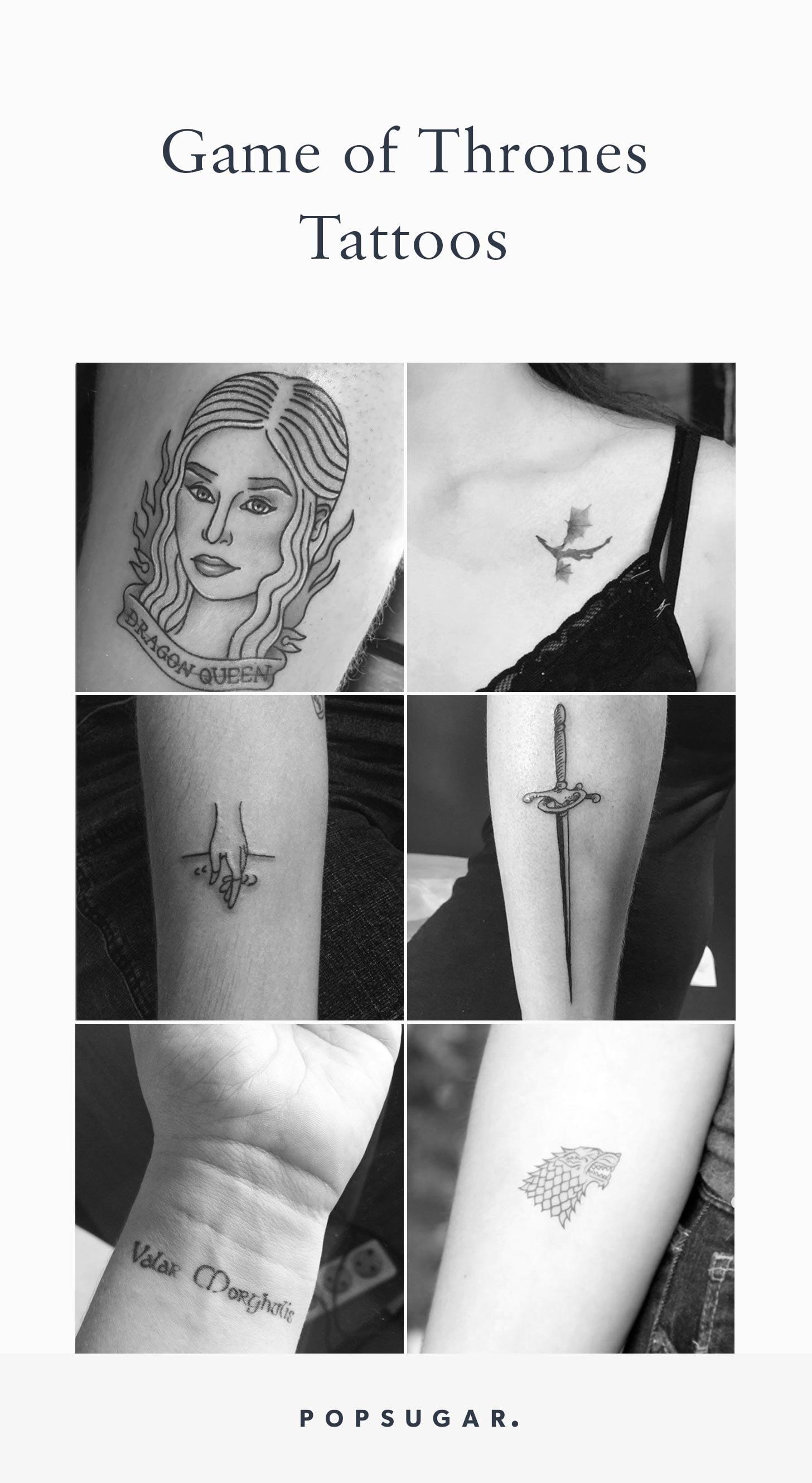Game Of Thrones Tattoos Popsugar Beauty