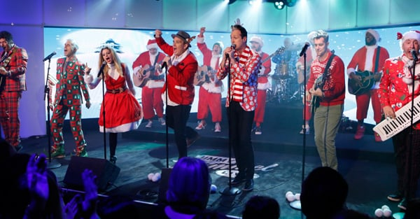 band of merrymakers performs snow snow snow popsugar entertainment. Black Bedroom Furniture Sets. Home Design Ideas