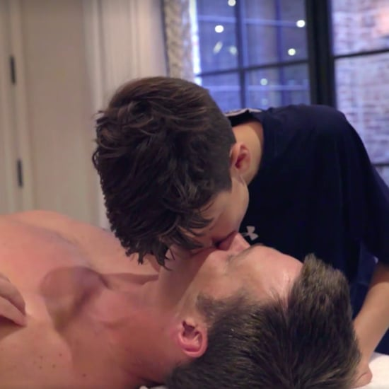 Tom Brady Kissing Son on the Lips