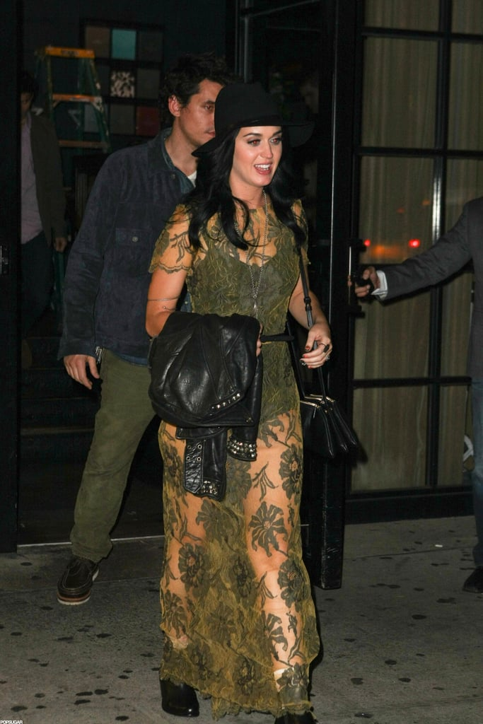 Katy Perry and John Mayer had dinner at a restaurant in NYC together.