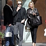 Kate Moss shopped with her friend James Brown in London.