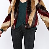 Chaser Furry Chevron Coat