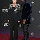 Kris Jenner and Corey Gamble at the 2019 People's Choice Awards