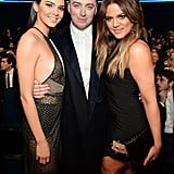 Sam Smith posed with Kendall Jenner and Khloé Kardashian during the 2014 show.