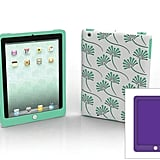 Tibet iPad 2 case with blueberry and sea-foam inner wraps and outer Tibet pattern shell.
