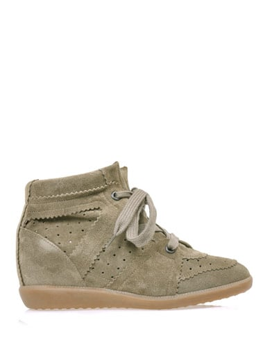 Isabel Marant Bobby Suede Hidden Wedge Trainers ($695)