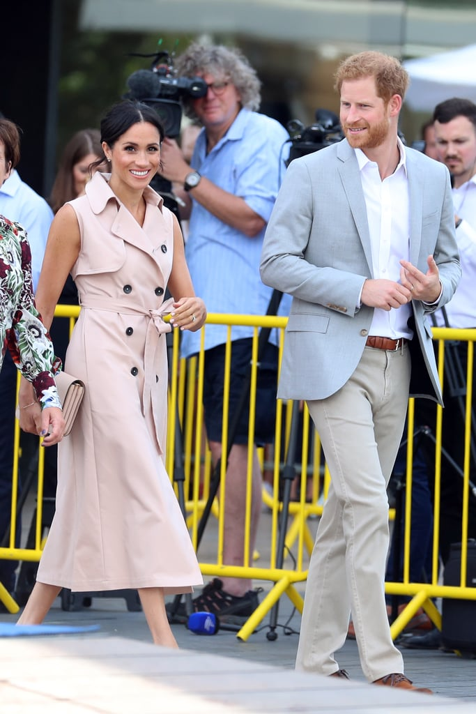 Meghan Markle's Pink Trench Dress House of Nonie