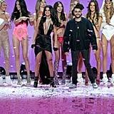 Pictured: Adriana Lima, Alessandra Ambrosio, Selena Gomez, Candice Swanepoel, Lily Aldridge, Behati Prinsloo, The Weeknd, Kate Grigorieva, and Romee Strijd