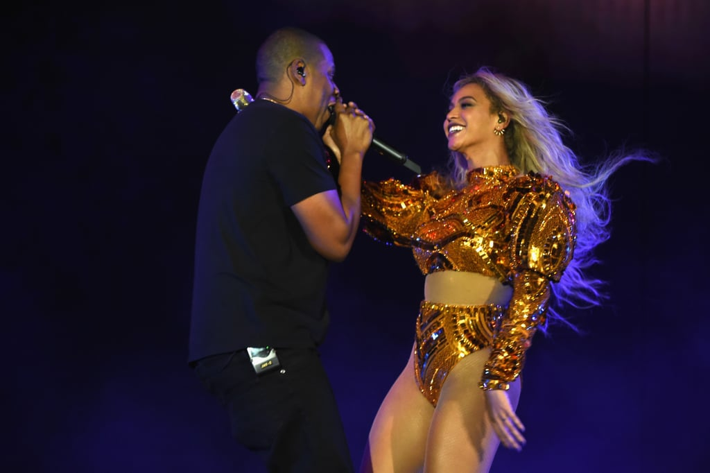 beyonce and jay z at formation world tour concert 2016 popsugar celebrity. Black Bedroom Furniture Sets. Home Design Ideas