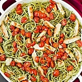 Pesto Spaghetti With Roasted Tomatoes and Chicken