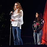 Queen Rania Wore Flares on Stage