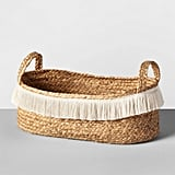 Get the Look: Water Hyacinth Fringe Oval Basket
