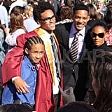 Will Smith Celebrates His Son Trey's Graduation With Jada, Jaden, and Willow!