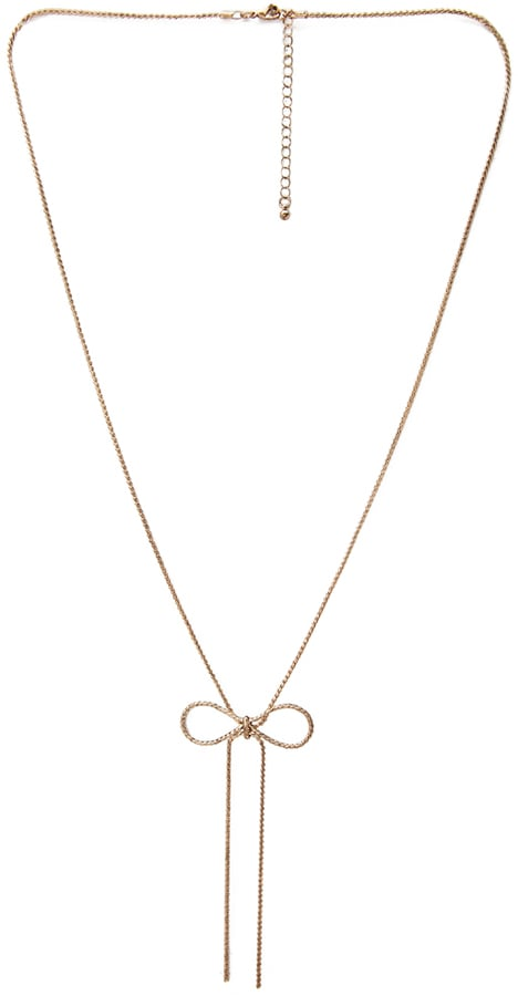 Forever 21 Ribbon Chain Necklace