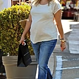 Pregnant Reese Witherspoon went to lunch in Brentwood on July 26.