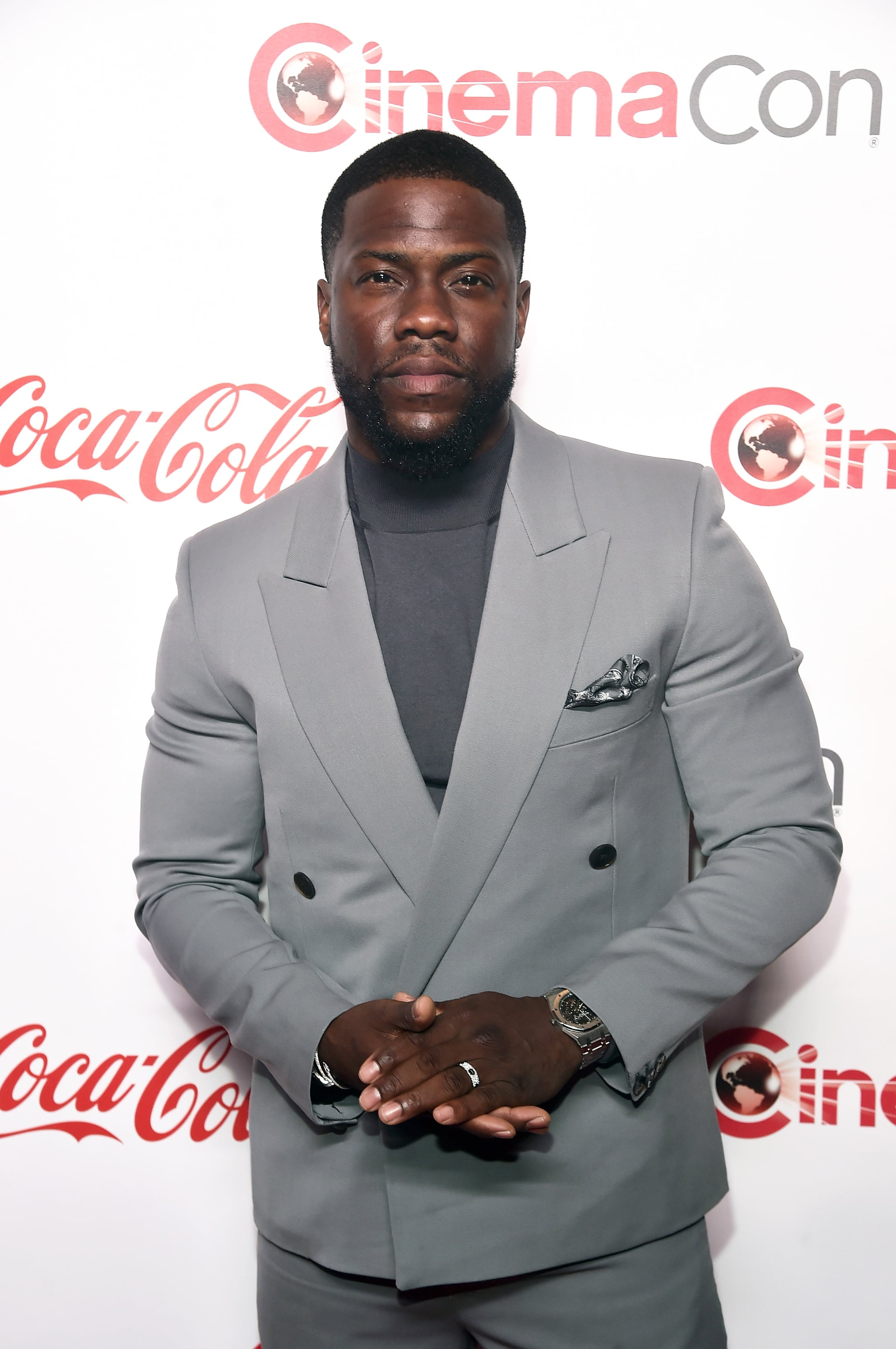 LAS VEGAS, NV - APRIL 04:  Kevin Hart attends The CinemaCon Big Screen Achievement Awards Brought to you by The Coca-Cola Company at OMNIA Nightclub at Caesars Palace during CinemaCon, the official convention of the National Association of Theatre Owners, on April 4, 2019 in Las Vegas, Nevada.  (Photo by Alberto E. Rodriguez/Getty Images for CinemaCon)
