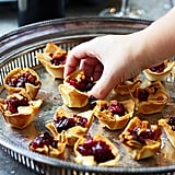 Brie, Cranberry, and Pancetta Phyllo Bites