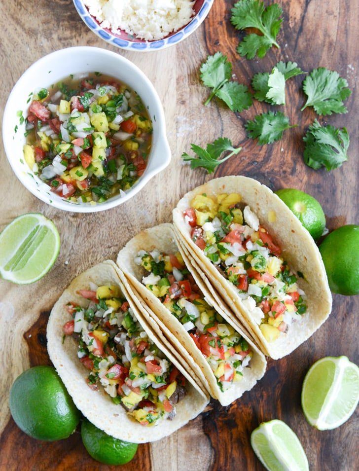 Ginger-Garlic Steak Tacos With Pineapple Salsa