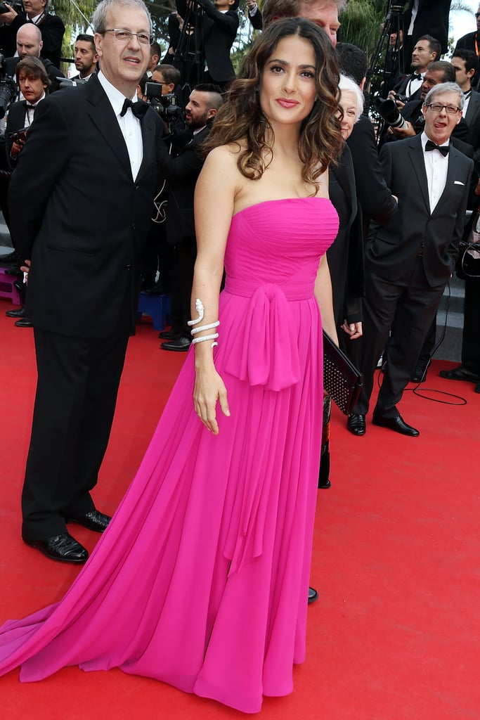 On Saturday, Salma Hayek was pretty in pink on the Prophet red carpet.