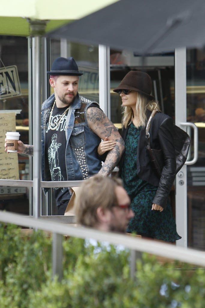 Nicole Richie and Joel Madden spent their morning together in LA.