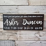 Birth Announcement Wood Sign