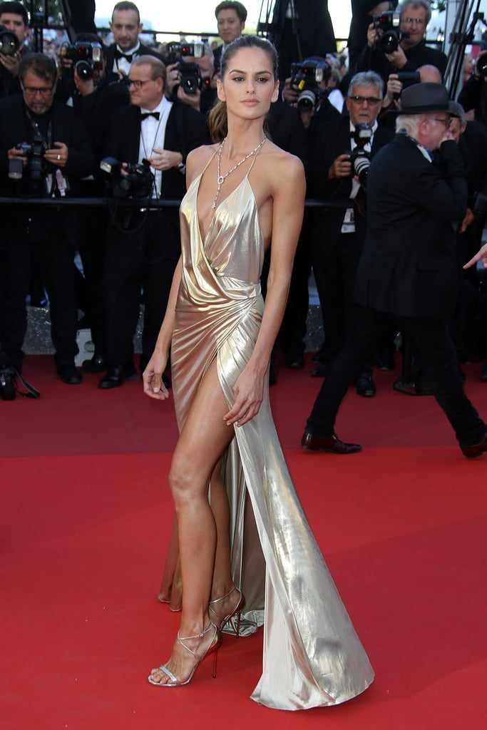 In 2016, the flashing lights bounced off of model Izabel Goulart's skin-baring Alexandre Vauthier gown.