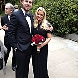 Jessica and Eric at CaCee Cobb's wedding. Source: JessicaSimpson.com