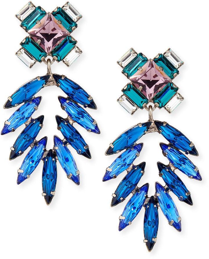 Dannijo Simon Crystal Drop Earrings ($370)