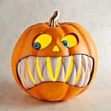 Resin LED Light-Up Jack-o-Lantern with Fangs