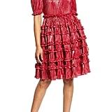 Halogen x Atlantic-Pacific Ruffle Plissé Dress