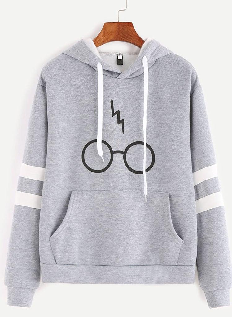 Minetom Harry Potter Glasses Hoodie