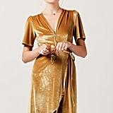 Azalea Velvet Midi Wrap Dress