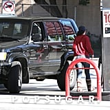 Kristen Stewart was covered up for her trip to the gas station.