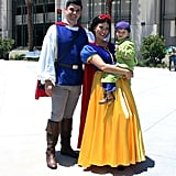 Prince Charming, Snow White, and Dopey