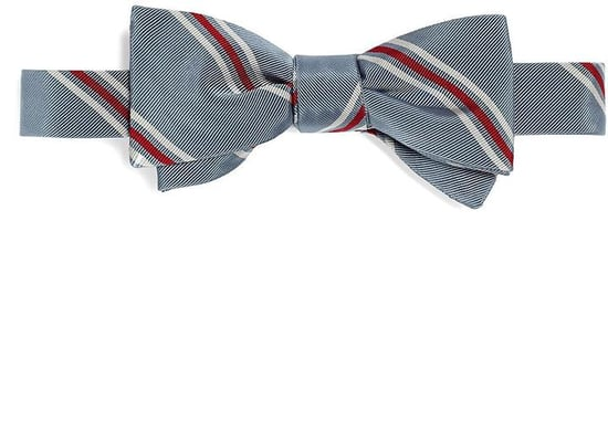 Spaced Stripe Bow Tie