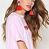 Nasty Gal Harden My Heart Tassel Earrings