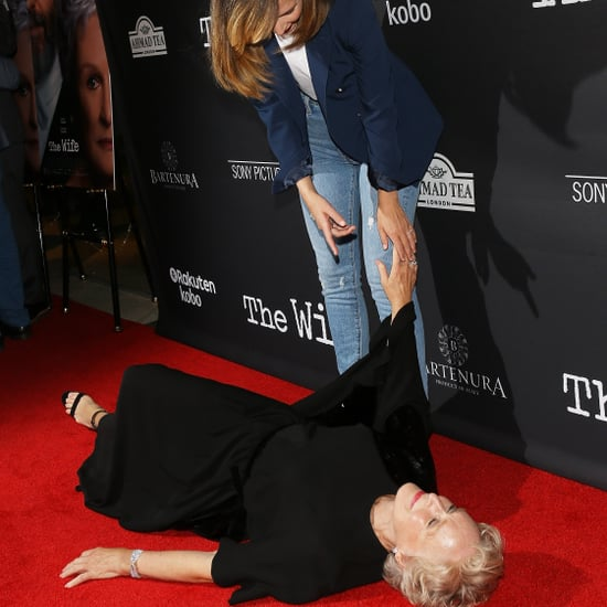 Glenn Close Pretends to Faint on the Red Carpet 2018